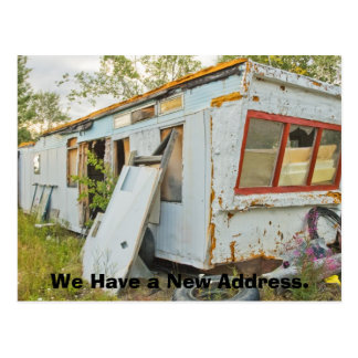 Funny Change of Address Card: Trailer Home Postcard