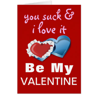 Funny Cheeky Valentine Greeting Card