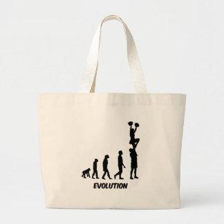 Funny cheerleading jumbo tote bag