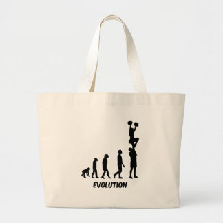 Funny cheerleading large tote bag