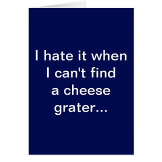Funny Cheese Grater Abs Card