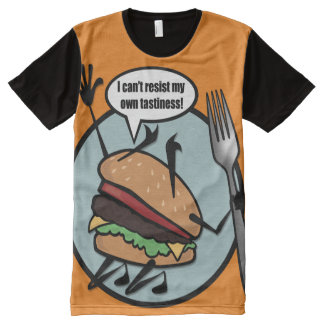 FUNNY CHEESEBURGER ALL OVER PRINT T-SHIRT All-Over PRINT T-Shirt