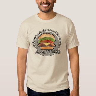 Funny Cheeseburger Tee Shirt