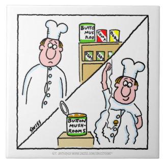 Funny Chef Cartoon Cartoon Kitchen Tile
