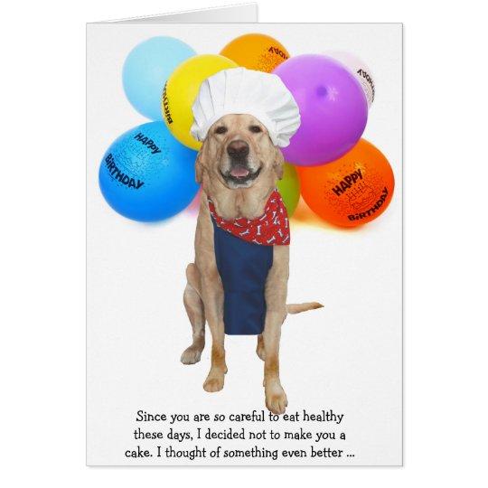 Funny Chef Dog/Lab Birthday Card