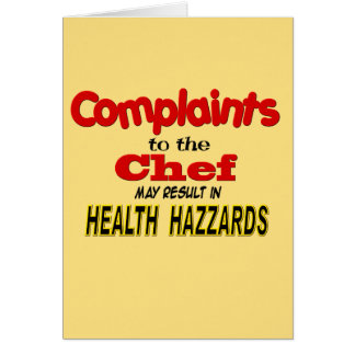 Funny Chef Greeting Card