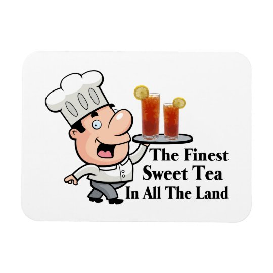 Funny Chef With The Finest Sweet Tea Rectangular Photo Magnet