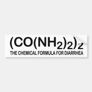 Funny Chemical Formula for Diarrhea Bumper Sticker Car Bumper Sticker