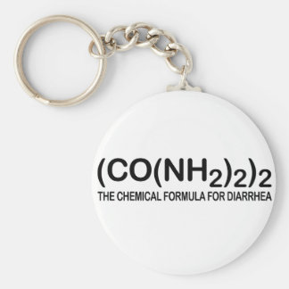 Funny Chemical Formula for Diarrhoea Keychain