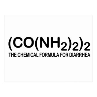 Funny Chemical Formula for Diarrhoea Postcard