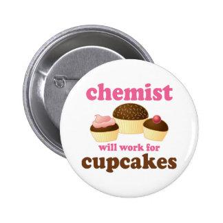 Funny Chemist 6 Cm Round Badge
