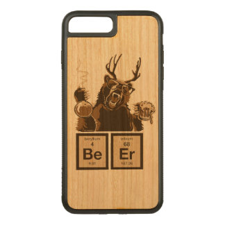 Funny chemistry bear discovered beer carved iPhone 8 plus/7 plus case