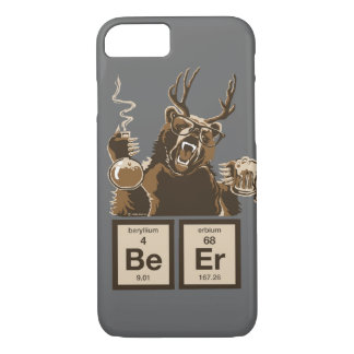 Funny chemistry bear discovered beer iPhone 7 case