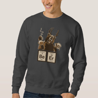 Funny chemistry bear discovered beer sweatshirt