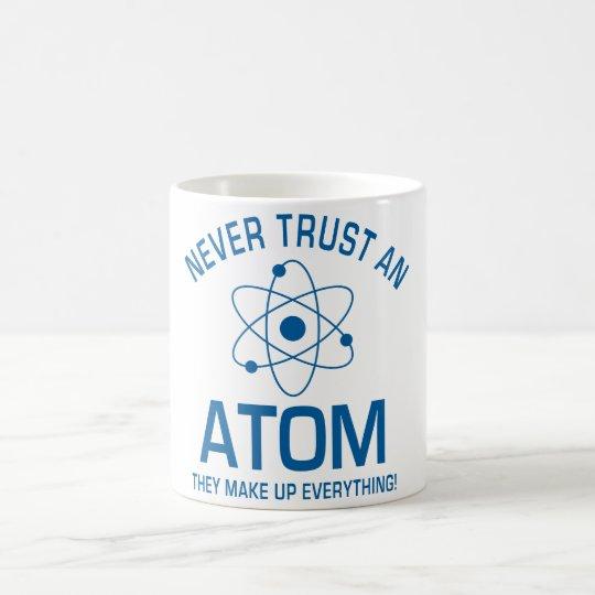 Funny Chemistry Pun Joke Never trust an atom