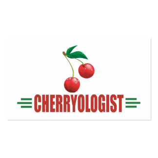 Funny Cherries Double-Sided Standard Business Cards (Pack Of 100)