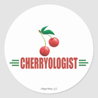 Funny Cherries Round Sticker