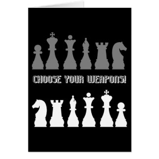 funny chess greeting card