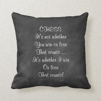 Funny chess joke gifts chalkboard cushion