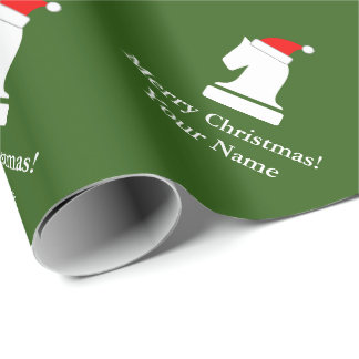 Funny chess piece pattern Christmas wrapping paper