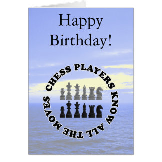 Funny Chess Players Know All the Moves Greeting Card