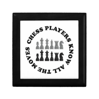 Funny Chess Players Know All the Moves Nerd Humor Gift Box