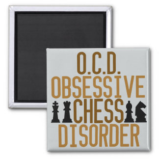 Funny Chess Square Magnet