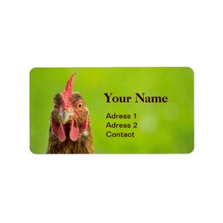 Funny Chicken - Adress Label