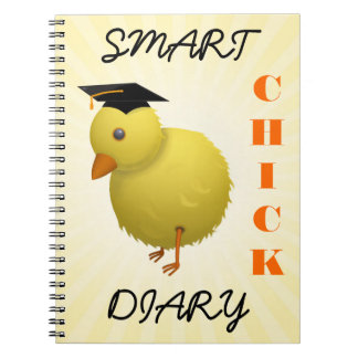 Funny Chicken Cartoon - Smart Chick Women's Diary Notebook