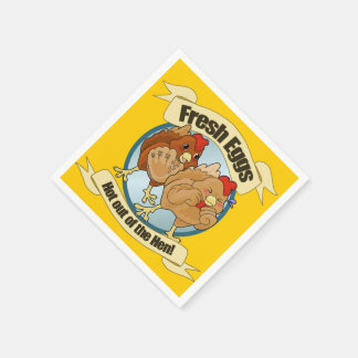 Funny Chicken Egg Logo Disposable Napkin