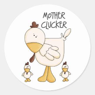 Funny Chicken Gift Round Sticker