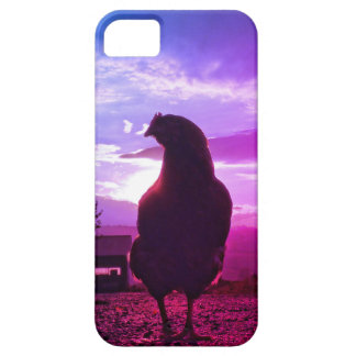 Funny Chicken in backlight iPhone 5 Case