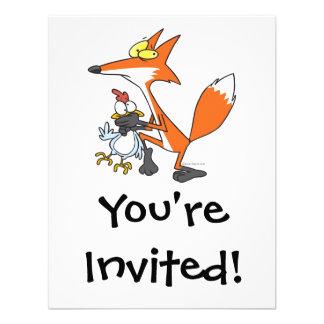 funny chicken stealing stealer fox invites
