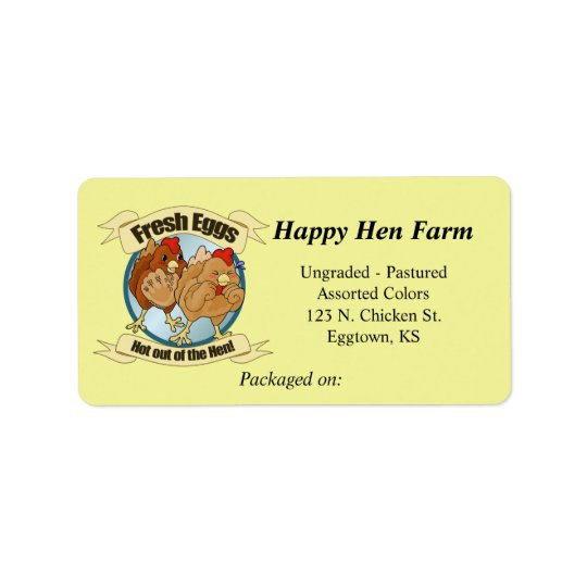 Funny Chickens Egg Label Address Label