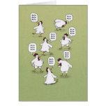 Funny Chickens Twenty Bucks Birthday Greeting Card