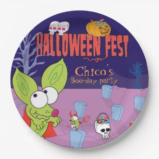 Funny Chico Chihuahua halloween plate cartoon
