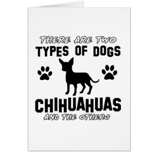 Funny CHIHUAHUA designs Greeting Card