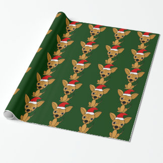 Funny Chihuahua Dog Christmas Wrapping Paper