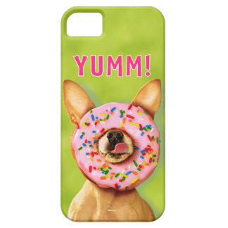 Funny Chihuahua Dog with Sprinkle Donut on Nose iPhone 5 Covers