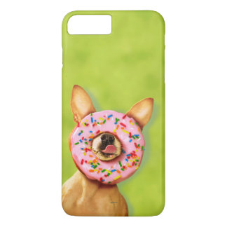 Funny Chihuahua Dog with Sprinkle Donut on Nose iPhone 7 Plus Case