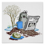 Funny Chillin' Out Groundhog Posters