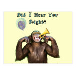 Funny Chimpanzee Humour Getting old Birthday card Post Card