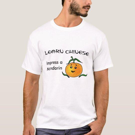 Funny Chinese Mandarin Language and Fruit T-Shirt