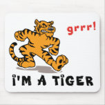 Funny Chinese Zodiac Tiger Mouse Pad