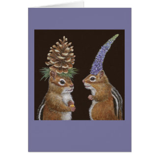 Funny chipmunk card