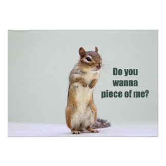 Funny Chipmunk Picture Custom Announcements