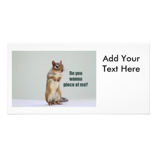 Funny Chipmunk Picture Photo Greeting Card