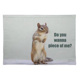 Funny Chipmunk Picture Placemat