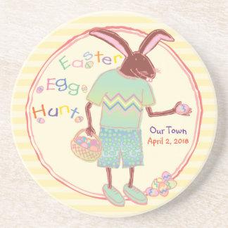 Funny Chocolate Bunny Easter Egg Hunt Coaster