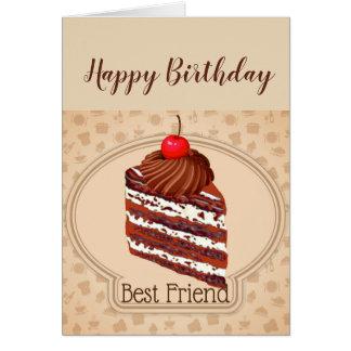 Funny Chocolate Cake Best Friend Birthday Card
